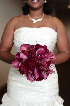 Bridal Bouquet Inspiration l Purple Calla Lilies