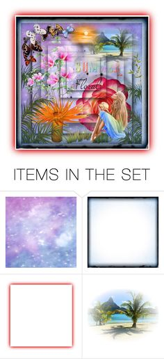 """Summer Floral"" by sylvia-cameojewels ❤ liked on Polyvore featuring art"