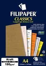 Filipaper Kraft 180g/m² (50 folhas; Natural) A4 FP00942