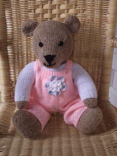 Hand Knitted Teddy Bear  Alpaca Yarn / Heirloom or by bythemill