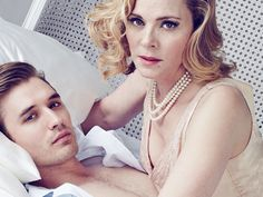 Kim Cattrall & Seth Numrich SWEET BIRD OF YOUTH Make-Up & Hair by K. Fortune