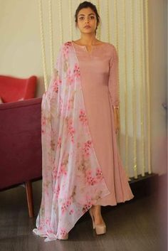 Online Shopping of Peach Sober salwar Suit from mongoosekart, best products,fatest delivery available here, Huge collection of Straight fit Salwar suit . Simple Kurti Designs, Salwar Designs, Kurta Designs Women, Kurti Neck Designs, Kurti Designs Party Wear, Indian Attire, Indian Wear, Indian Outfits, Churidhar Designs