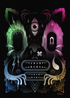 """Ghost Cat""    http://eshop.sergeantpaper.com/fr/print/461-ghost-cat-niark1.html"