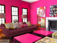 pink living room.... Probably more subdued but. For my NYC apt.