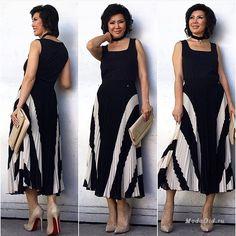 Мода для женщин старше 50 лет: три стильных блогера Corporate Design, Plus Size, Slim, My Style, Womens Fashion, How To Wear, Clothes, Sewing, Dresses