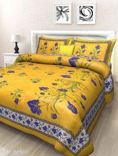 Checkout this latest Bedsheets_500-1000 Product Name: *Trendy Jaipuri Printed Cotton Double Bed Bedsheet with 2 Pillow Cover* Fabric: Cotton No. Of Pillow Covers: 2 Thread Count: 160 Multipack: Pack Of 1 Sizes: Queen (Length Size: 93 in Width Size: 83 in Pillow Length Size: 27 in Pillow Width Size: 17 in)  Country of Origin: India Easy Returns Available In Case Of Any Issue   Catalog Rating: ★4 (456)  Catalog Name: Classic Fancy Bedsheets CatalogID_2231516 C53-SC1101 Code: 663-11780569-078