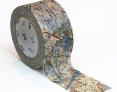 Washi tape: map pattern limited edition