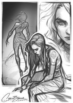 "charlie bowater on Twitter: ""Just gonna go MARRY this bristly brush okay. Lunch time doodles :) https://t.co/hNsWPkyDyN"""