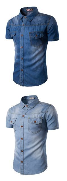 Men's Casual/Daily Simple Summer Short Sleeves Shirt