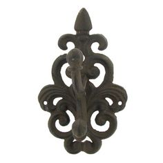 Brown Cast Iron Wall Mount Double Hook | Hobby Lobby | 108753