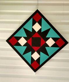 Barn Quilt Designs, Barn Quilt Patterns, Quilting Designs, Homemade Canvas Art, Diy Canvas Art, Star Quilts, Quilt Blocks, Amish Barns, Painted Barn Quilts