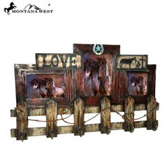 Western Country Style Wooden Wall Photo Frame