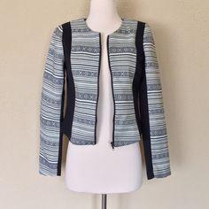 Ivory black patterned jacket Zip up patterned jacket Fabric: 80% cotton 20% polyester Sweet Xylia Jackets & Coats