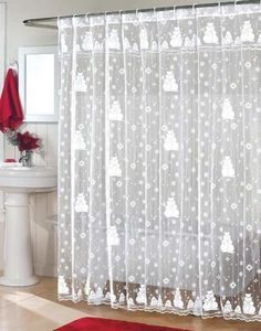 21 Awesomely Unexpected Christmas Bathroom Decorations To Realize Pirate Bathroom Decor, Christmas Bathroom Decor, Christmas Shower Curtains, Bathroom Shower Curtains, Restroom Decoration, Bathroom Wallpaper, Diy Design, Design Ideas, Cottage Style Bathrooms