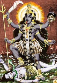 In Hinduism, Kali is the dark mother goddess who represents the force of change and transformation in the universe. The Devi Mahatmya, a Sanskrit text of the 5th – 6th century AD, relates tha…