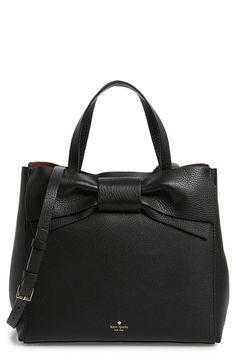 d4e6937804eb Crushing on this gorgeous leather Kate Spade handbag with an over-sized bow  for an