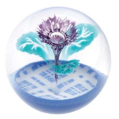 Scottish Glass Paperweights | Caithness Glass Scottish Thistle Paperweight
