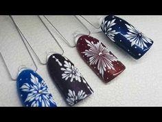 ❄ СНЕЖИНКИ на ногтях ❄ ЗИМНИЙ дизайн ногтей ❄ Дизайн ногтей гель лаком ❄ Nail design Shellac ❄ - YouTube