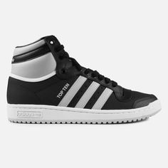 Featuring a casual silhouette with a dash of swagger, the Men's adidas Top Ten Hi Casual Shoes are sure to become one of your faves. With a sleek leather upper and high-top design, you'll love rockin' these OG kicks with your favorite jeans or athletic shorts. On the court or the streets, you'll get the traction you need from the pivot-point rubber outsole. Supple leather keeps things comfortable all day long, while Three-Stripes branding cements the iconic status of these sneakers. The…