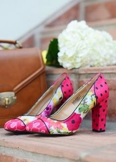 DIY fabric covered pumps