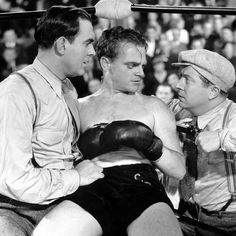 Pat O'Brien and James Cagney in THE IRISH IN US ('35)