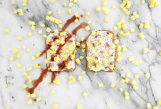 Hetherington Toast Party is here this time with whipped cream cheese, sage flowers, chia seeds, pineapple and beet hot sauce. Yum! To find this and more recipes viisit Jonny Hetherington Essentials website.