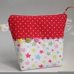 Cath Kidston Stars & Dot Fabric Cosmetic Bag with Water Resistant Lining by sewmoira on Etsy
