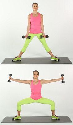 Sumo Squat With Side-Arm Raises