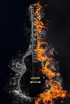 Guitar Wall Art, Guitar Drawing, Guitar Pics, Guitar Painting, Music Guitar, Musik Wallpaper, Galaxy Wallpaper, Music Drawings, Music Artwork