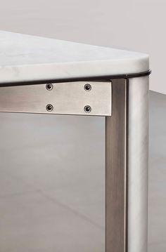Tavolo da riunione da pranzo in marmo in stile moderno GREGORIO | Tavolo in marmo di Carrara - mg12