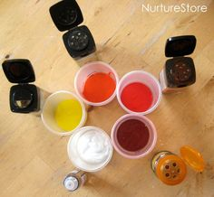 paint recipe with spices...I might try adding some vanilla, cinnamon, ginger, etc, to our paints :)