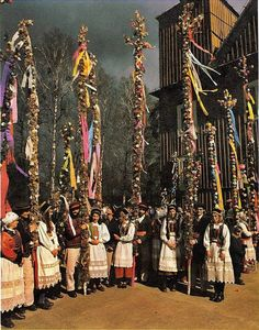 Journey To The Past, Polish Folk Art, Costumes Around The World, Culture Clothing, Palm Sunday, Beltane, Arte Popular, Traditional Fashion, Folk Costume