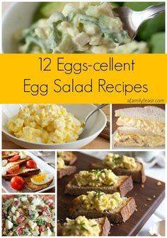 12 Eggs-cellent Egg Salad Recipes | www.afamilyfeast.com | #egg #Easter #salad - You're going to want this great collection of egg salad recipes after Easter! Pin this now!