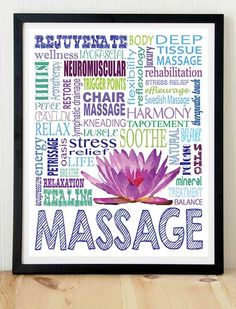 Massage+Therapy+poster+print+typography+by+KremerPrintandDesign,+$10.99 | Come to Fulcher's Therapeutic Massage in Imlay City, MI and Lapeer, MI for all of your massage needs! Call (810) 724-0996 or (810) 664-8852 respectively for more information or visit our website lapeermassage.com!