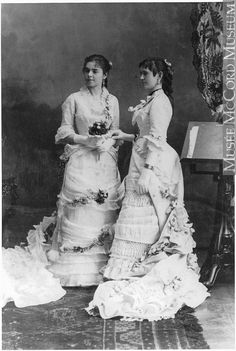 Photograph by Notman & Sandham: 1879, Misses Guerin and McKinnon, Montreal, QC; silver salts on glass, wet collodion process.