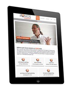 KOMOS // Logo & huisstijl - drukwerk - CMS responsive website - belettering
