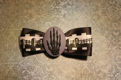 Skellington Death Hand Purple by RiotGearHairBows on Etsy, $8.00