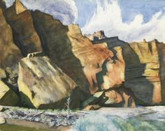 thunderstruck9:  Edward Hopper (American, 1882-1967), Shoshone Cliffs, Wyoming, 1941. Watercolor and pencil on paper, 54.3 x 67 cm.