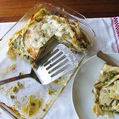 Hatch Chile Chicken Enchilada Casserole