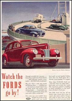 1940 FORD AUTOMOBILES GOOD HOUSEKEEPING 03/01/1940 p. 64