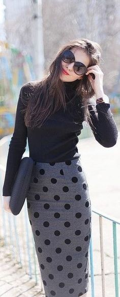 #street #style / classic look fall Shades of Gray