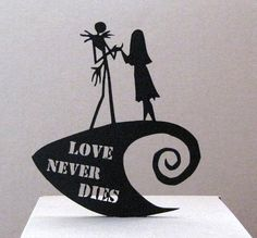 Wedding Cake Topper The Nightmare Before Christmas by Plasticsmith, $29.00
