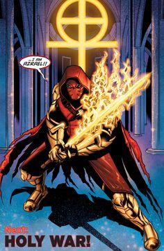 "Azrael in Batman & Robin #9 ""The Last to Die"" - Roge Antonio, Colors: Allen Passalaqua"