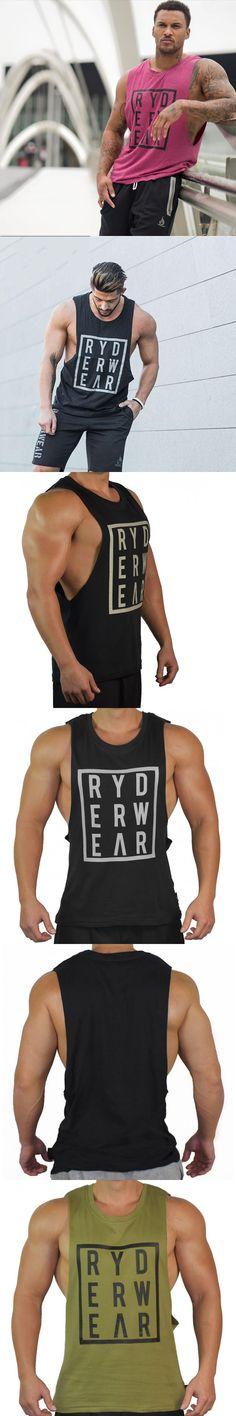 2017NEW Summer Mens gyms Tank Top Bodybuilding cotton Sleeveless Brand Fitness Vest Muscle male fashion Leisure Sling undershirt