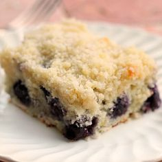 Blueberry Cream Cheese Coffee Cake A delicious 8 inch coffee cake bursting with blueberry and lemon flavor . A very moist little cake!