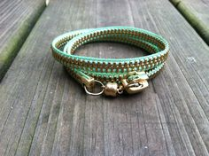 Mint Green Zipper Bracelet. $15.00, via Etsy.