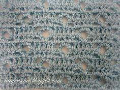 Easy stitch that can be used for afghans and throws, baby blankets, scarves, or even crochet sweaters.