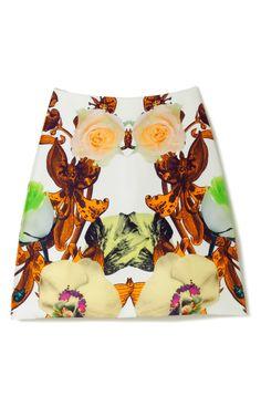 Flower Brocade A-Line Skirt by Josh Goot for Preorder on Moda Operandi