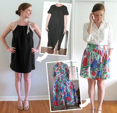 I have about 10 dresses in the stash who are begging to be DIY'd into these wonderful things.