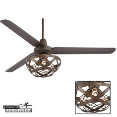 Looking for the perfect ceiling fan with cage light to compliment your rustic industrial decor? We explore 6 caged light ceiling fans you'll absolutely love. Industrial Ceiling Fan, Rustic Industrial Decor, Rustic Lighting, Ceiling Fan Vaulted Ceiling, Cage Light, Modern Kitchen Island, Video Wall, Living Room Pictures, Home Decor Styles